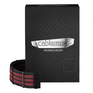 CableMod PRO ModMesh RT-Series ASUS ROG / Seasonic Kabelski Kit – crni/crveni