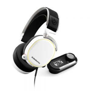 SteelSeries Arctis Pro + GameDAC, Surround, gaming slušalice, bijele