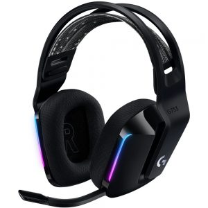 Logitech G733 LIGHTSPEED Black, gaming slušalice