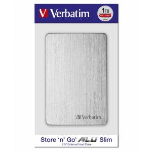 Verbatim Store'n'Go Alu slim HDD, 1TB
